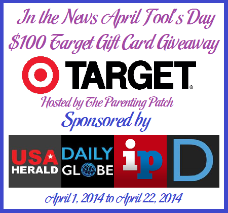 2014-04-01 In the News April Fool's Day $100 Target Gift Card Giveaway(1)