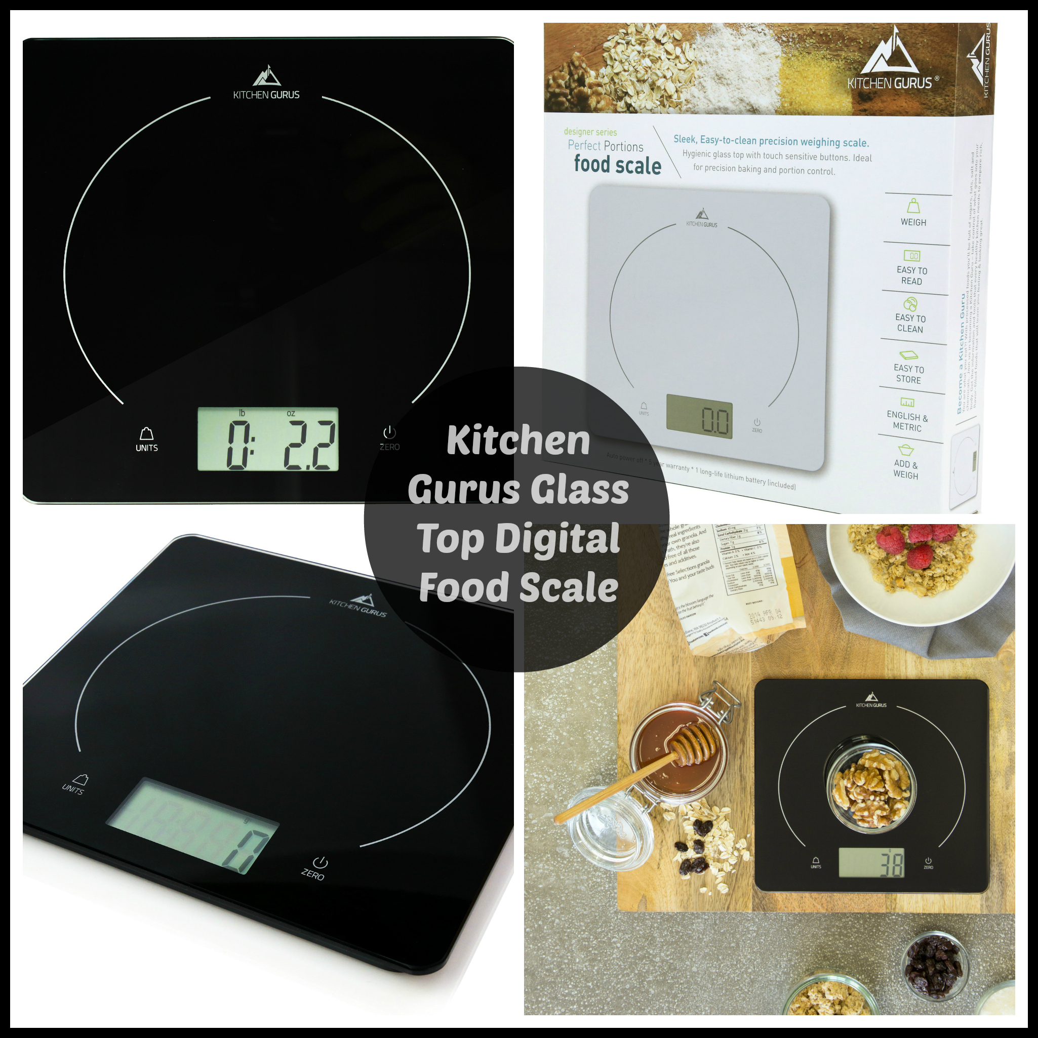 kitchen gurus glass top digital food scale the stuff of success