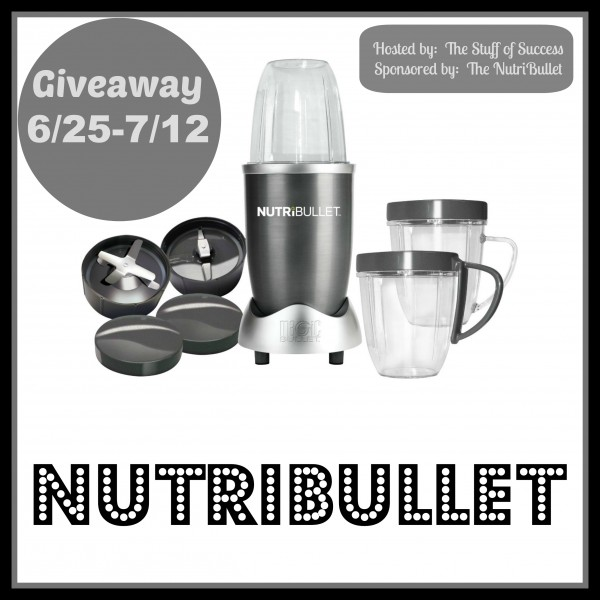 Enter the NutriBullet Giveaway. Ends 7/12.
