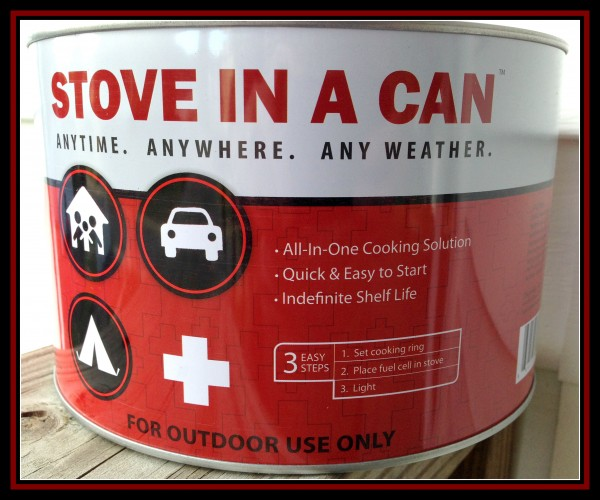 Enter the Stove in a Can Giveaway. Ends 6/25.