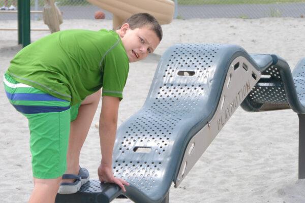 anthony at playground