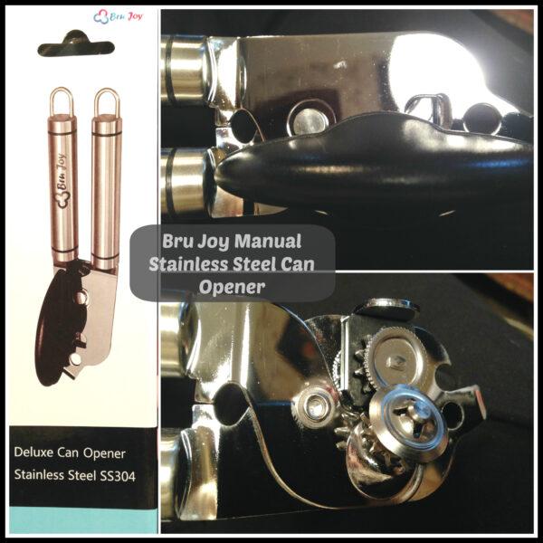 bru joy manual stainless steel can opener