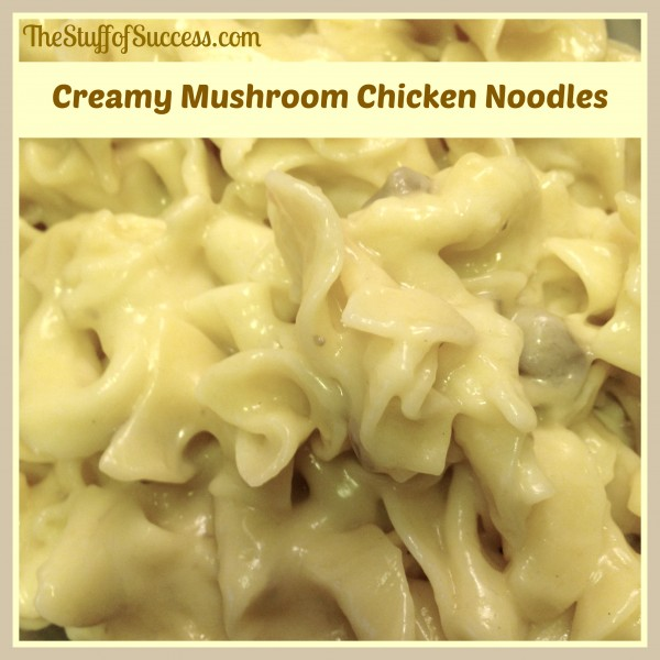 creamy mushroom chicken noodles
