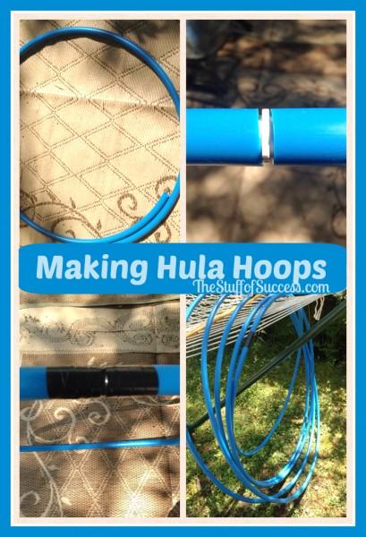 making hula hoops