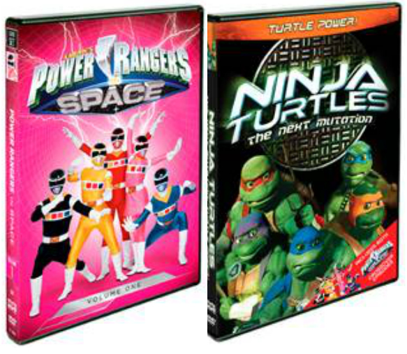 power rangers and ninja turtles