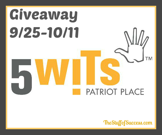 Enter the 5-Wits Adventure Giveaway, ends 10/11.