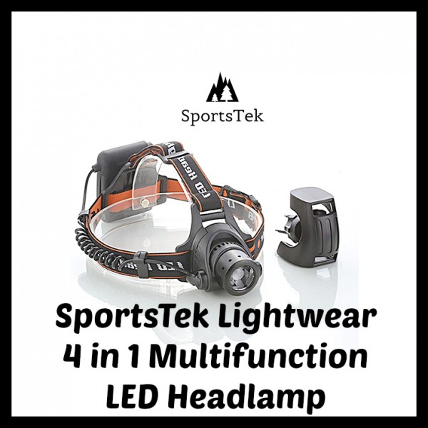 SportsTek Lightwear 4 in 1 Multifunction LED Headlamp