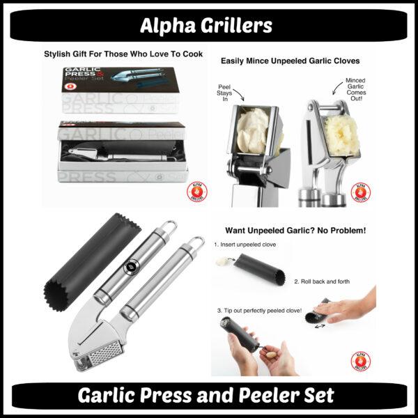 garlic press and peeler