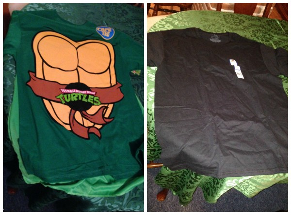 tmnt cape t and a black t