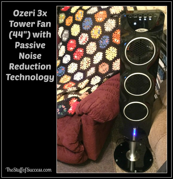 Ozeri 3x Tower Fan (44) with Passive Noise Reduction Technology