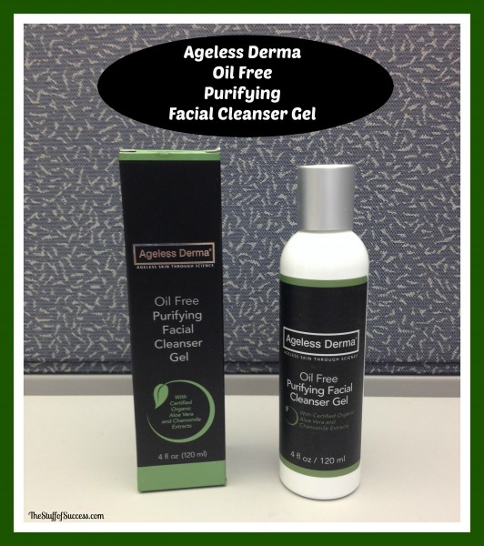 ageless derma oil free purifying facial cleanser gel