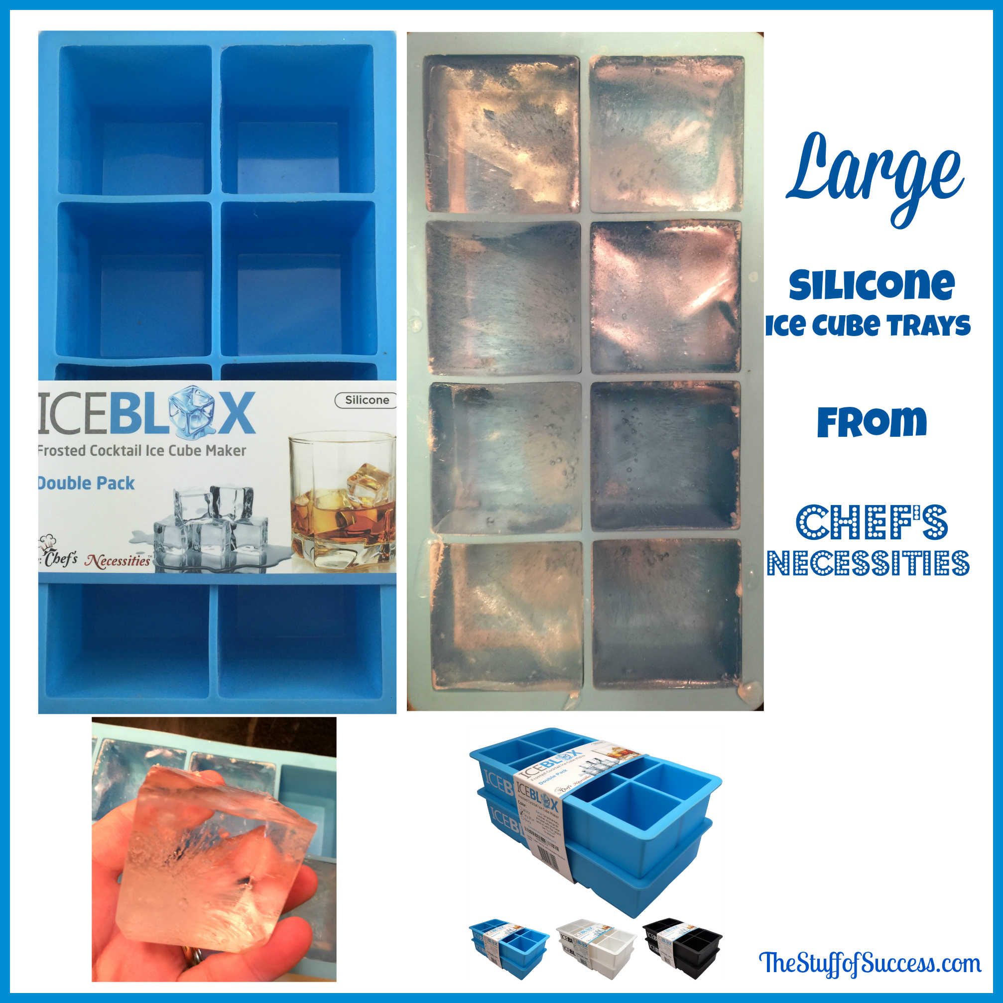 Large silicone ice cube trays chefs necessities