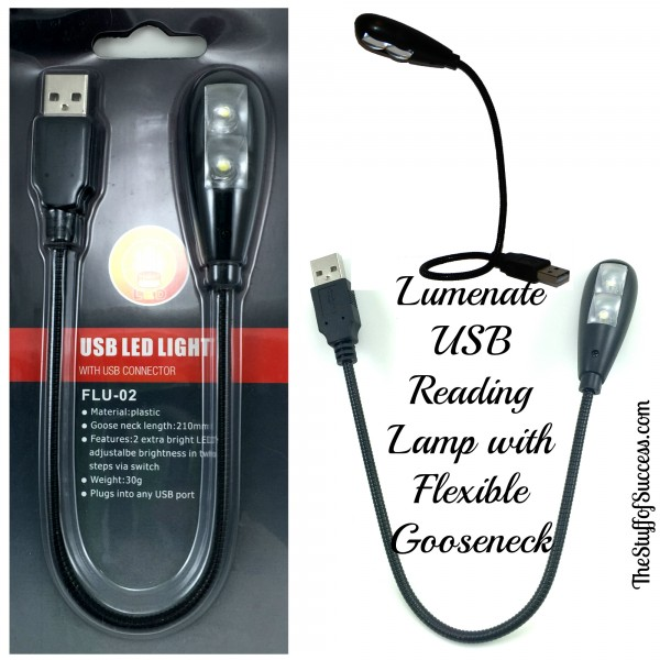 Lumenate USB Reading Lamp with Flexible Gooseneck
