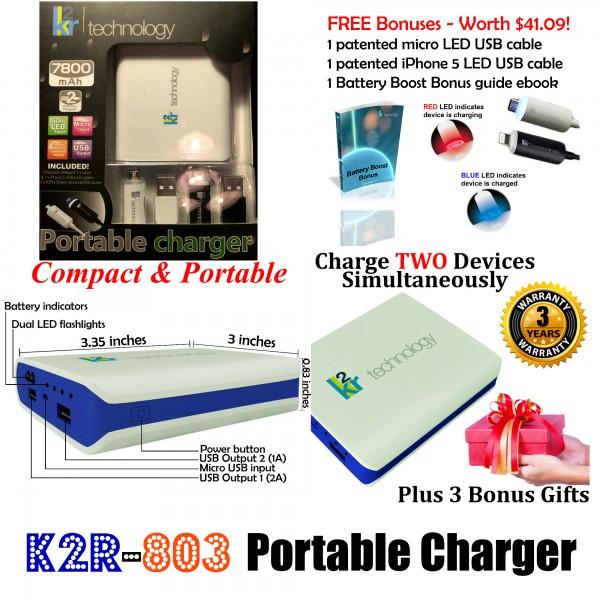 k2r 803 portable charger