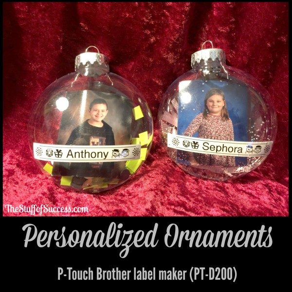 Personalized Ornaments P-Touch Brother label maker PTD200