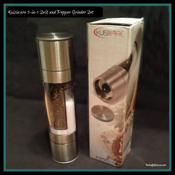 kuisiware 2-in-1 salt and pepper grinder set
