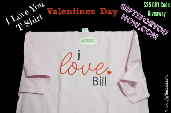 GiftsForYouNow I Love You TShirt