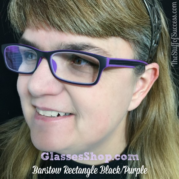 GlassesShop Barstow Rectangle Black and Purple