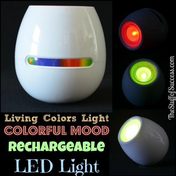 Living Colors Light Colorful Mood Rechargeable LED Light