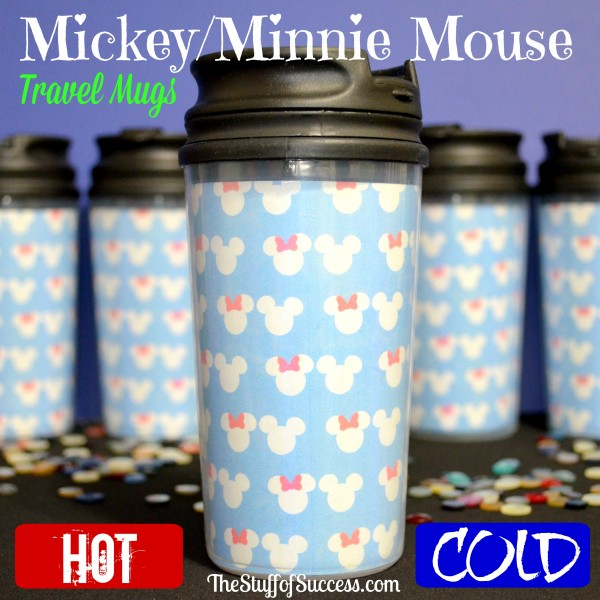 Mickey Minnie Mouse Travel Mugs