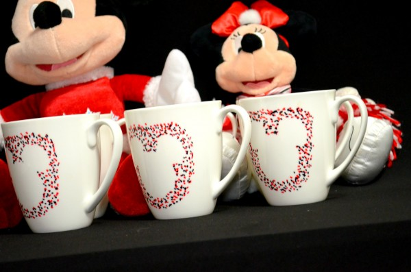 Mickey Mouse Mugs On An Angle