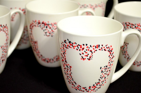 Mickey Mouse Sharpie Mugs Closeup