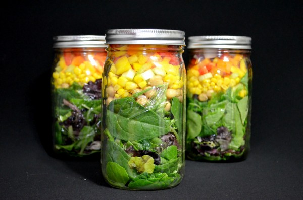 Salad In A Jar Beautiful Colors