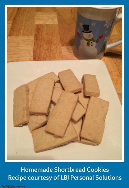 homemade shortbread cookies recipe courtesy of LBJ Personal Solutions