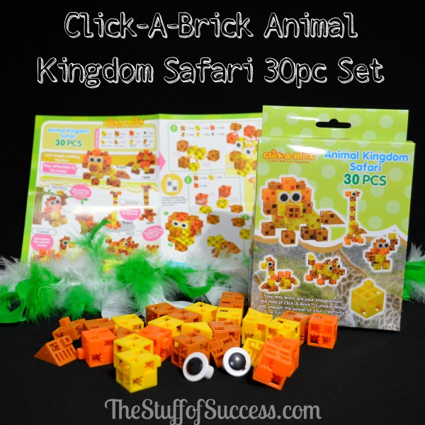 Click-A-Brick Animal Kingdom Safari 30pc Set – So Many Great Combinations or Create Your Own