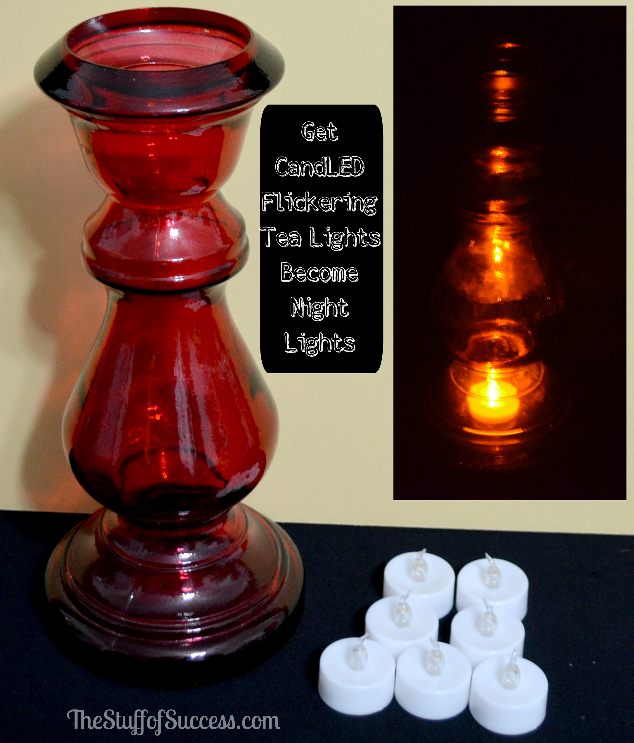 Get CandLED Flickering Tea Lights Become Night Lights