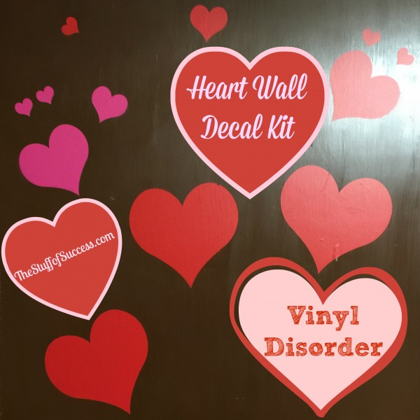Heart Wall Decal Kit by Vinyl Disorder