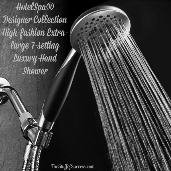 HotelSpa® Designer Collection High-fashion Extra-large 7-setting Luxury Hand Shower