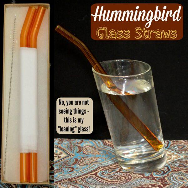Hummingbird Glass Straws