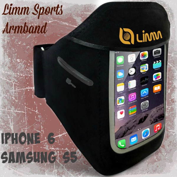 Limm Sports Armband for iPhone 6 and Samsung S5