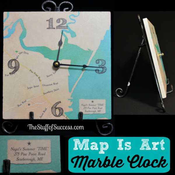 Map Is Art Marble Clock Nagels Summer Time