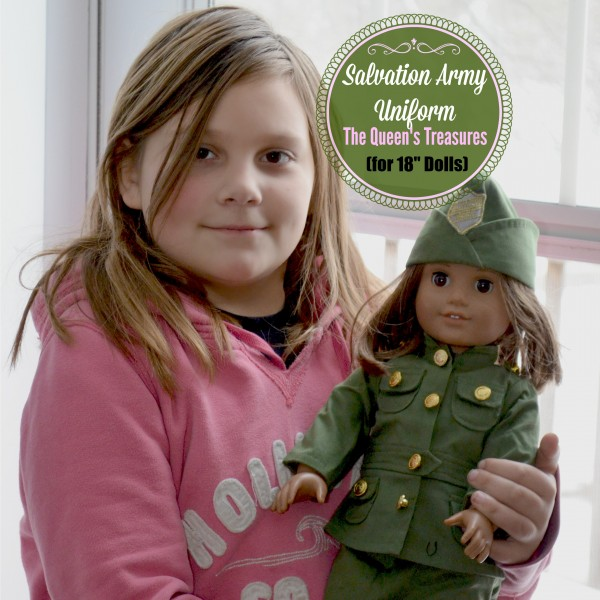 "Salvation Army Uniform for 18"" Dolls by The Queens Treasures"