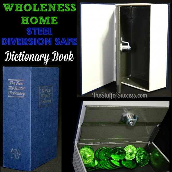 WHOLENESS HOME Steel Dictionary Book Diversion Safe