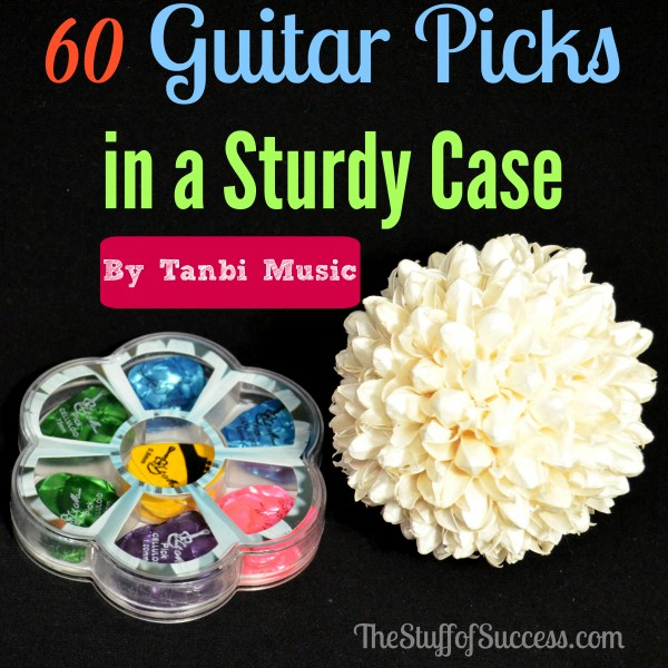 60 Guitar Picks In A Sturdy Case by Tanbi Music Giveaway Exp 3/19