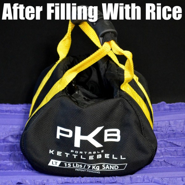 After filling with rice