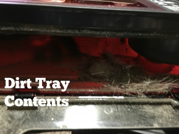 Dirt tray contents