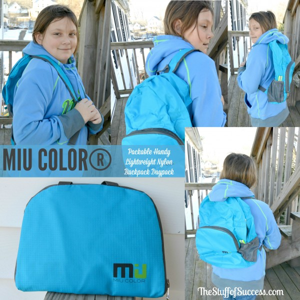 MIU COLOR® Packable Handy Lightweight Nylon Backpack Daypack