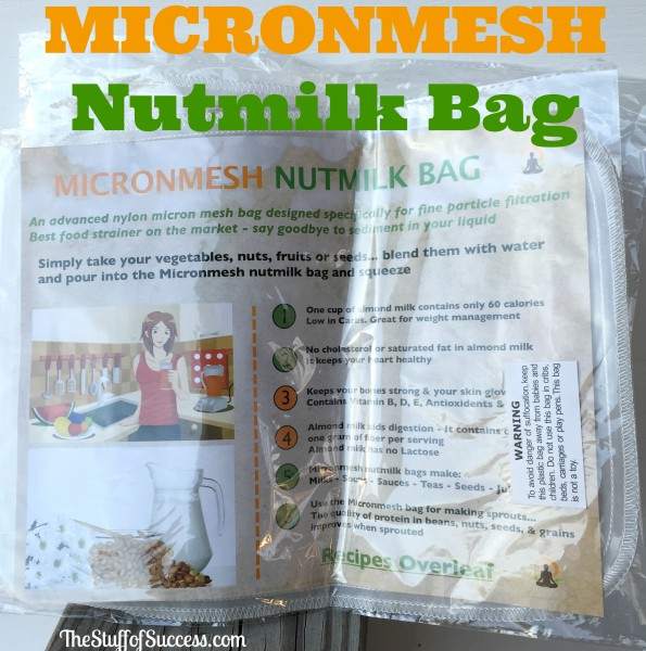 Micronmesh Nutmilk Bag Giveaway Exp 4/8