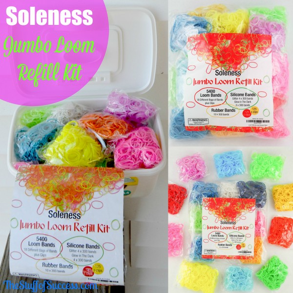 Soleness Jumbo Loom Kit - refill loom bands
