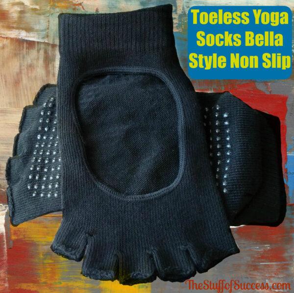 Toeless Yoga Socks Bella Style Non Slip | The Stuff of Success