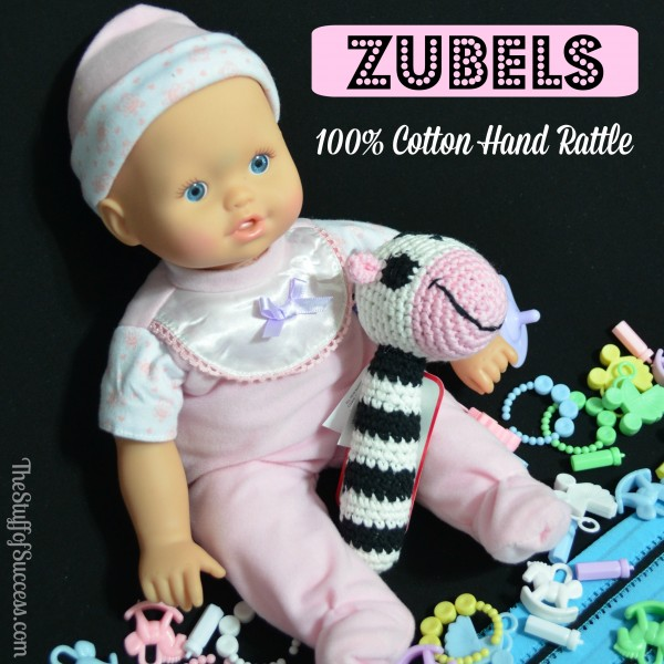 Zubels 100 Percent Cotton Hand Rattle