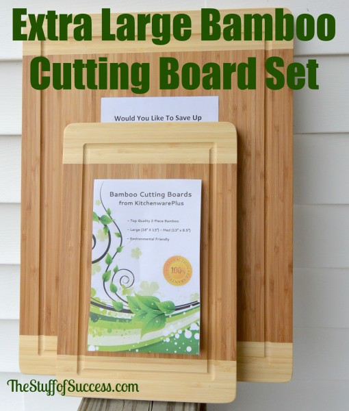 Extra Large Bamboo Cutting Board Set