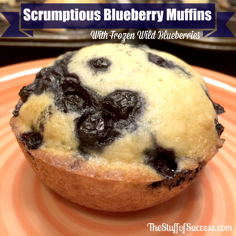 Scrumptious Blueberry Muffins With Frozen Wild Blueberries