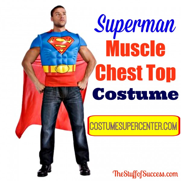 Superman Muscle Chest Top Costume