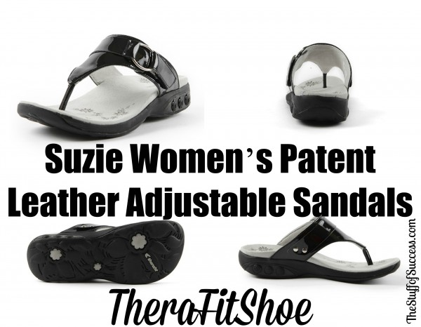 Suzie Women's Patent Leather Adjustable Sandals