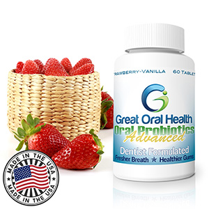 #1 Dentist Recommended Oral Probiotic Supplement: Effective Halitosis and Gum Disease Treatment. Free Shipping for Amazon Prime members. ALL NATURAL INGREDIENTS–GLUTEN AND LACTOSE FREE. Potent blend of beneficial bacteria, including Lactobacillus, Strep